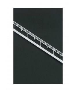 2 rampe oblique à barreaux verticaux à 34° en polystyrène blanc moulé - 145mm - échelle : 1/100 ( 604026 )