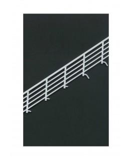 2 rampes obliques à barreaux horizontaux à 34° en polystyrène blanc moulé - 120,00mm - échelle : 1/50 ( 604027 )