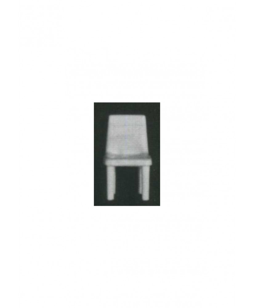 chaise sur 4 pieds avec dossier plein en polystyrène blanc moulé - échelle : 1/25 ( 605003 )
