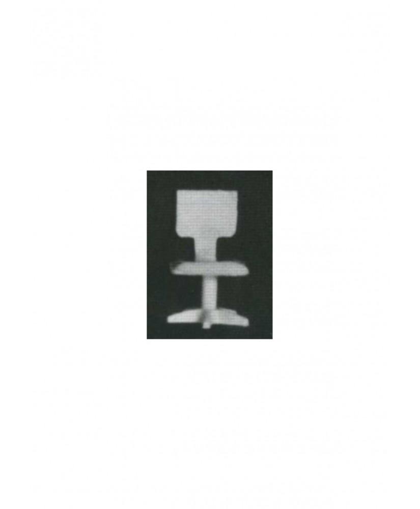chaise de bureau sur pied en étoile avec dossier découpé en polystyrène blanc moulé - échelle : 1/50 ( 605007 )