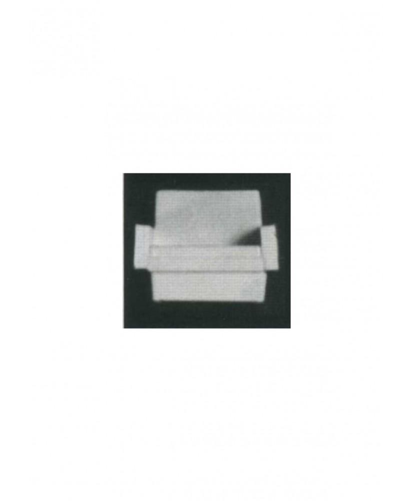 fauteuil de salon sur socle ou 4 pieds avec accoudoirs en polystyrène blanc moulé - échelle : 1/50 ( 605027 )