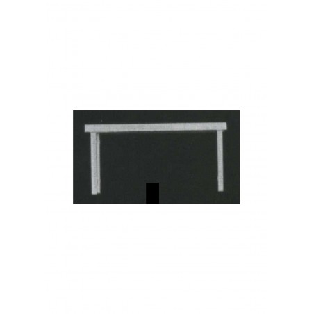 table rectangulaire sur 4 pieds en polystyrène blanc moulé - échelle : 1/100 ( 605033 )