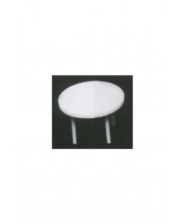 table ronde sur 4 pieds en polystyrène blanc moulé - échelle : 1/100 ( 605056 )