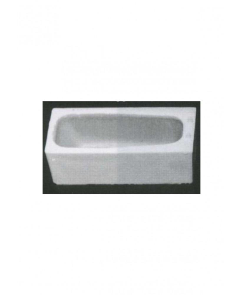 baignoire en polystyrène blanc moulé - échelle : 1/50 ( 605125 )