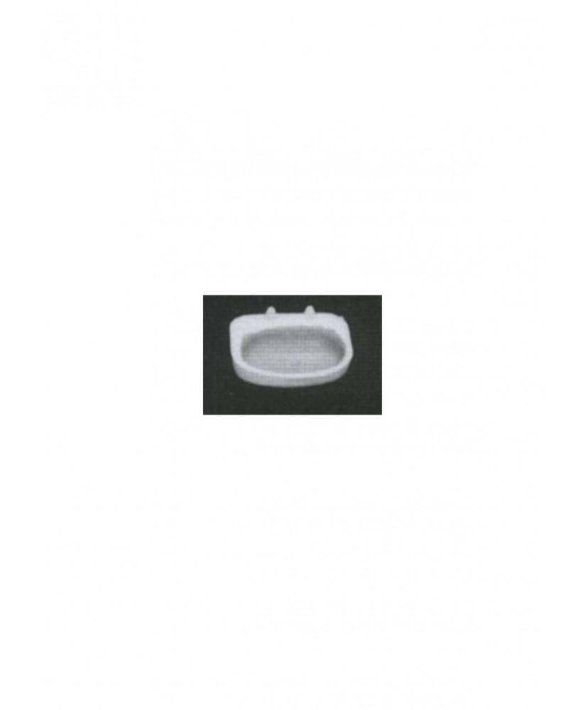 petit lavabo mural arrondi en polystyrène blanc moulé - échelle : 1/50 ( 605130 )