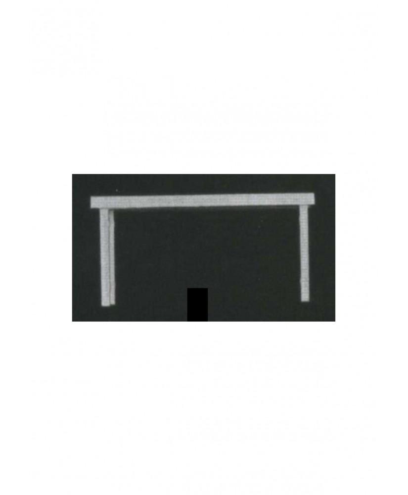 table rectangulaire sur 4 pieds en polystyrène blanc moulé - échelle : 1/25 ( 605043 )