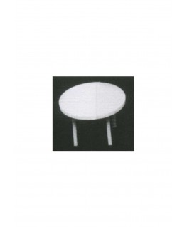 table ronde sur 4 pieds en polystyrène blanc moulé - échelle : 1/50 ( 605057 )