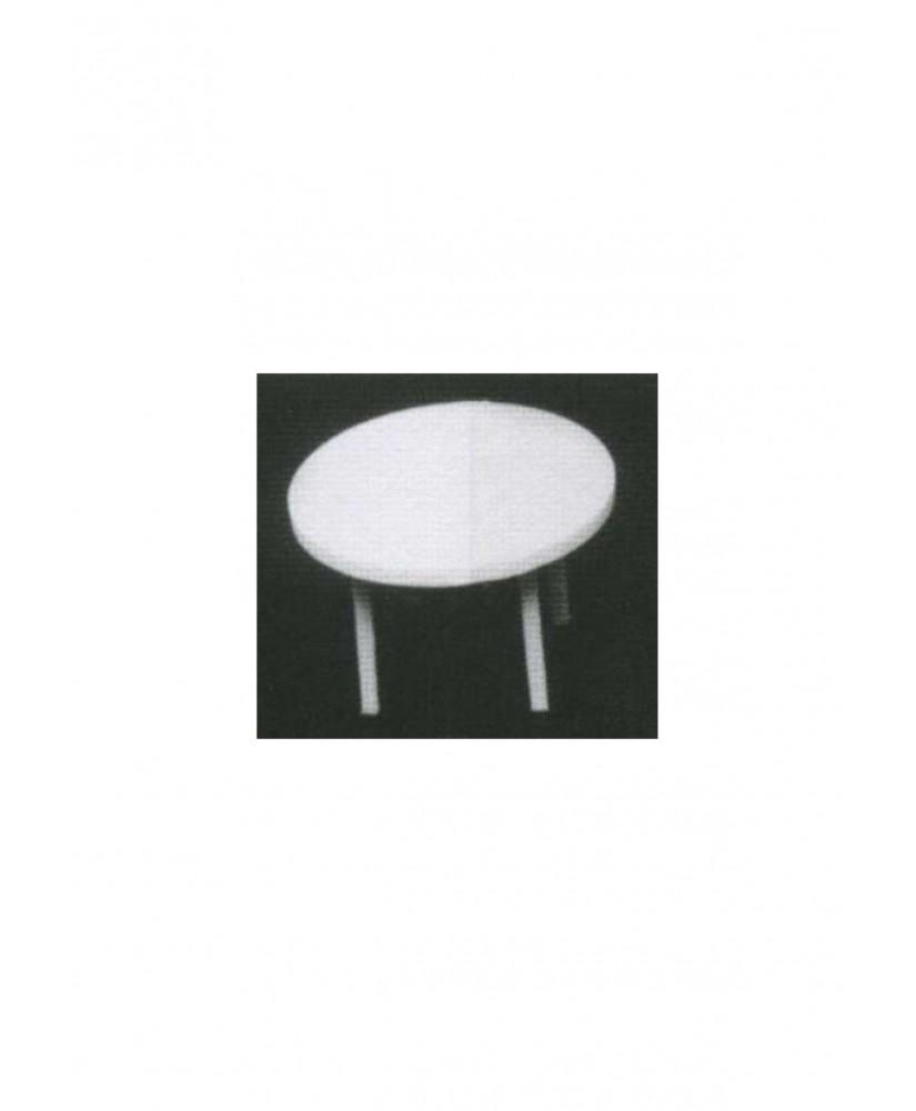 table ronde sur 4 pieds en polystyrène blanc moulé - échelle : 1/25 ( 605077 )