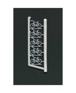 5 vélos en polystyrène blanc moulé - échelle : 1/100 ( 607015 )