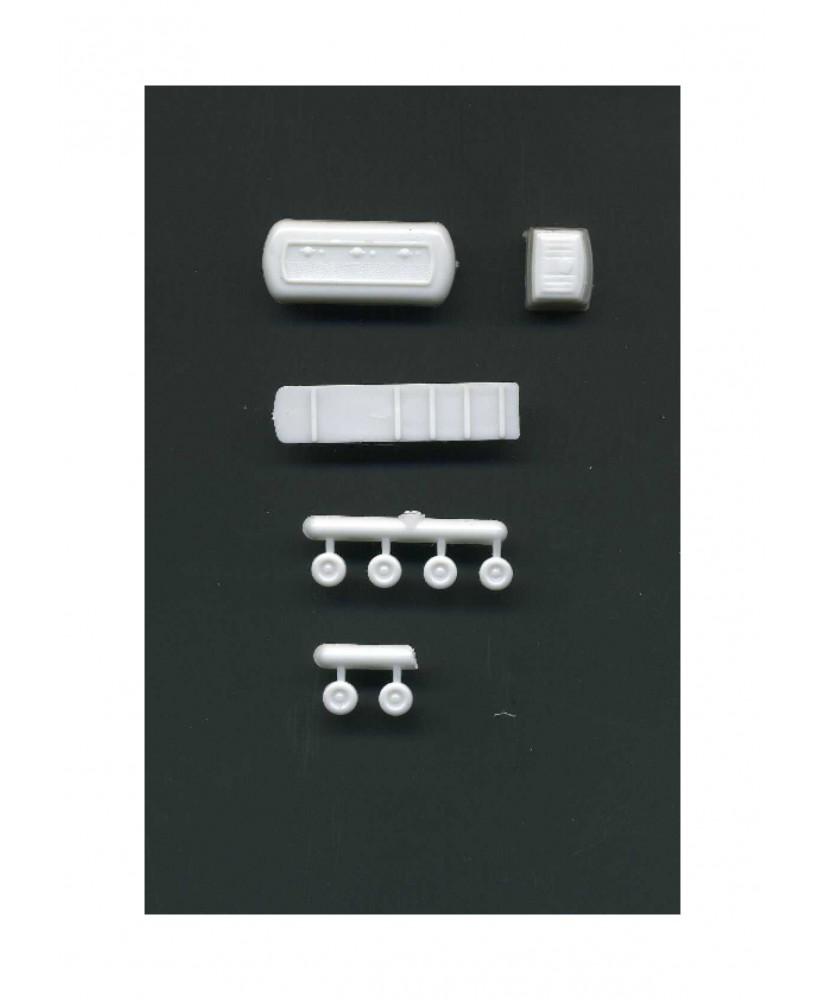 camion citerne en polystyrène blanc moulé - échelle : 1/200 ( 607012 )
