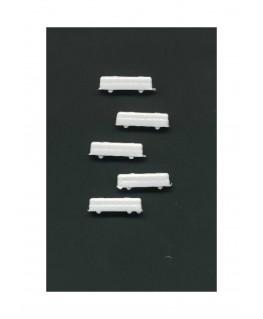 5 bus urbains en polystyrène blanc moulé - échelle : 1/500 ( 607017 )
