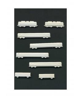 2 motrices électriques, 4 voitures & 2 fourgons en polystyrène blanc moulé - échelle : 1/500 ( 607019 )