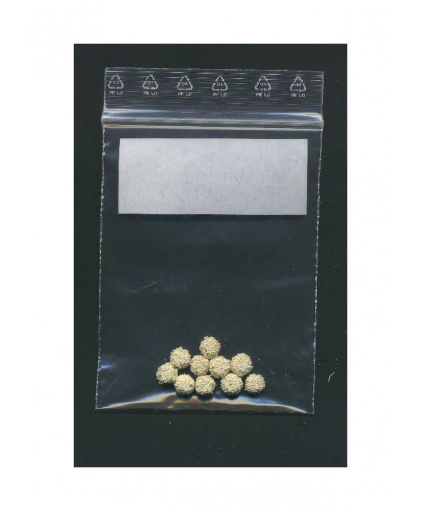 10 sphères en caoutchouc mousse blanc structuré - 6,00mm ( 606020 )