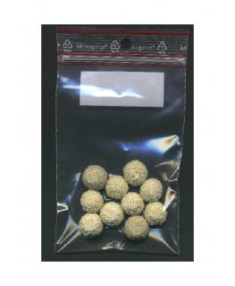 10 sphères en caoutchouc mousse blanc structuré - 15,00mm ( 606022 )