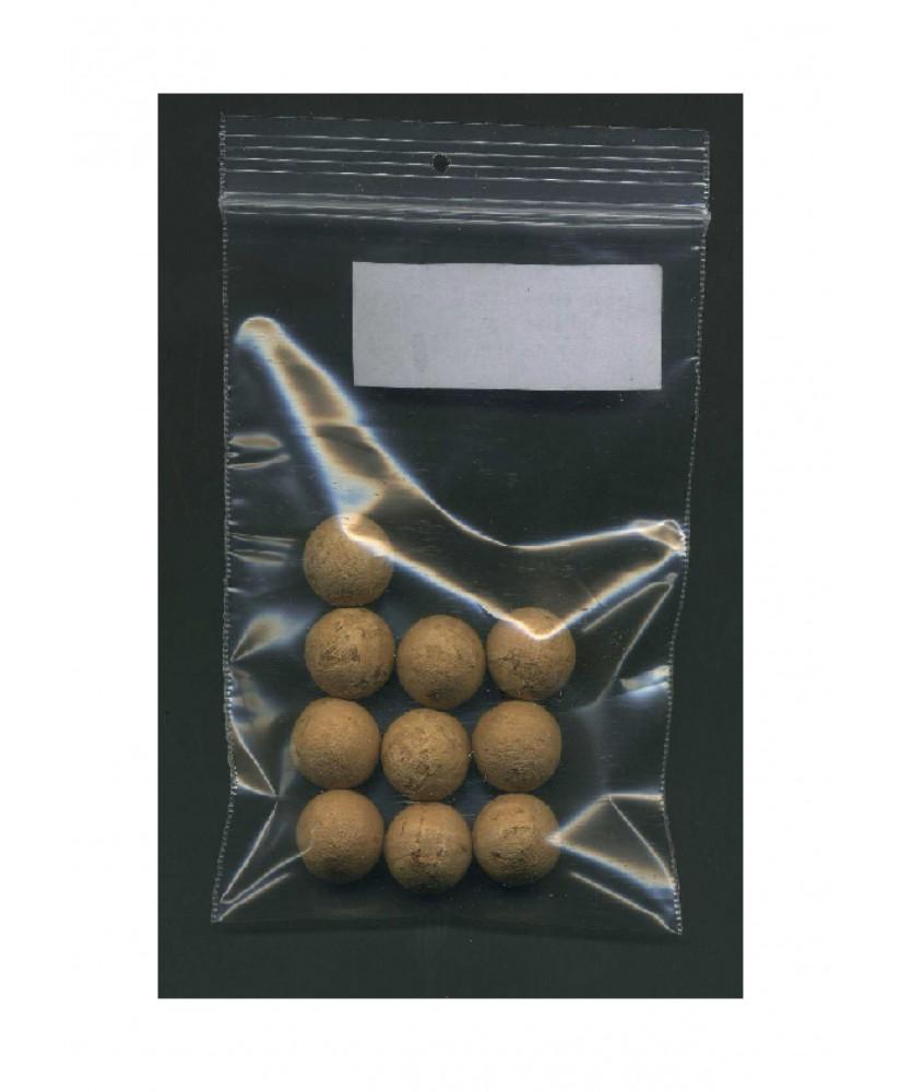 10 sphères en liège naturel - 15,00mm ( 606115 )