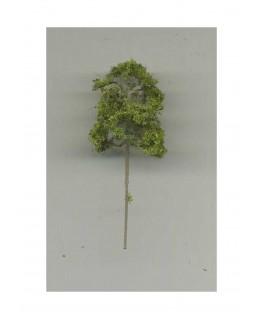 arbre feuillu en métal photodécoupé et floqué vert clair - 30,00mm ( 606751 )