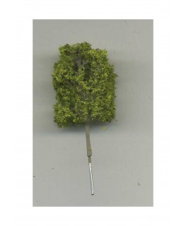 arbre feuillu en métal photodécoupé et floqué vert clair - 40,00mm ( 606752 )