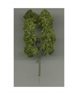 arbre feuillu en métal photodécoupé et floqué vert clair - 70,00mm ( 606754 )