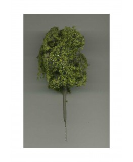 arbre feuillu en métal photodécoupé et floqué vert clair - 90,00mm ( 606756 )