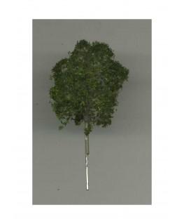 arbre feuillu en métal photodécoupé et floqué vert foncé - 40,00mm ( 606765 )