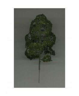 arbre feuillu en métal photodécoupé et floqué vert foncé - 90,00mm ( 606769 )