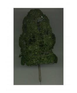 arbre feuillu en métal photodécoupé et floqué vert foncé - 130,00mm ( 606771 )