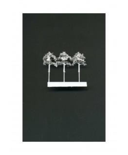 3 arbres feuillus en métal photodécoupé et floqué blanc - 20,00mm ( 606775 )