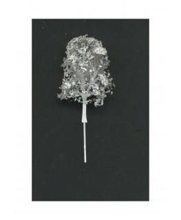 arbre feuillu en métal photodécoupé et floqué blanc - 30,00mm ( 606777 )