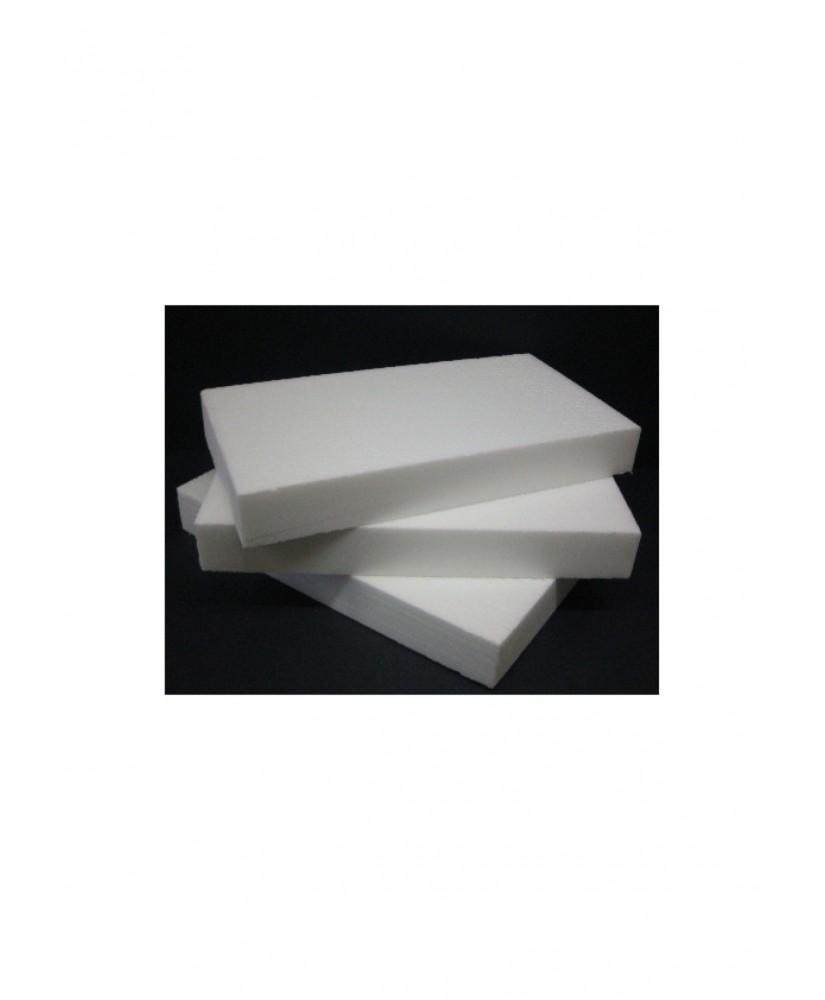 plaque de mousse de polystyrène extrudé blanc de densité 35Kg/M3 - 83 x 410 x 600mm ( 901477 )