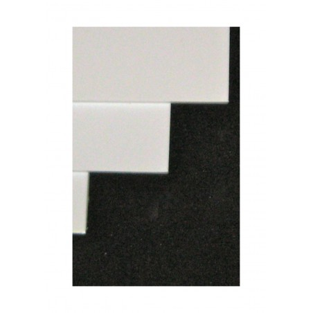 feuille en polystyrène blanc opaque - 0,50 x 700 x 1000mm ( 101 004 )