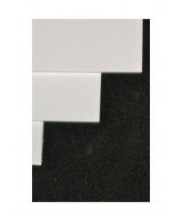 feuille en polystyrène blanc opaque - 1,00 x 700 x 1000mm ( 101 008 )