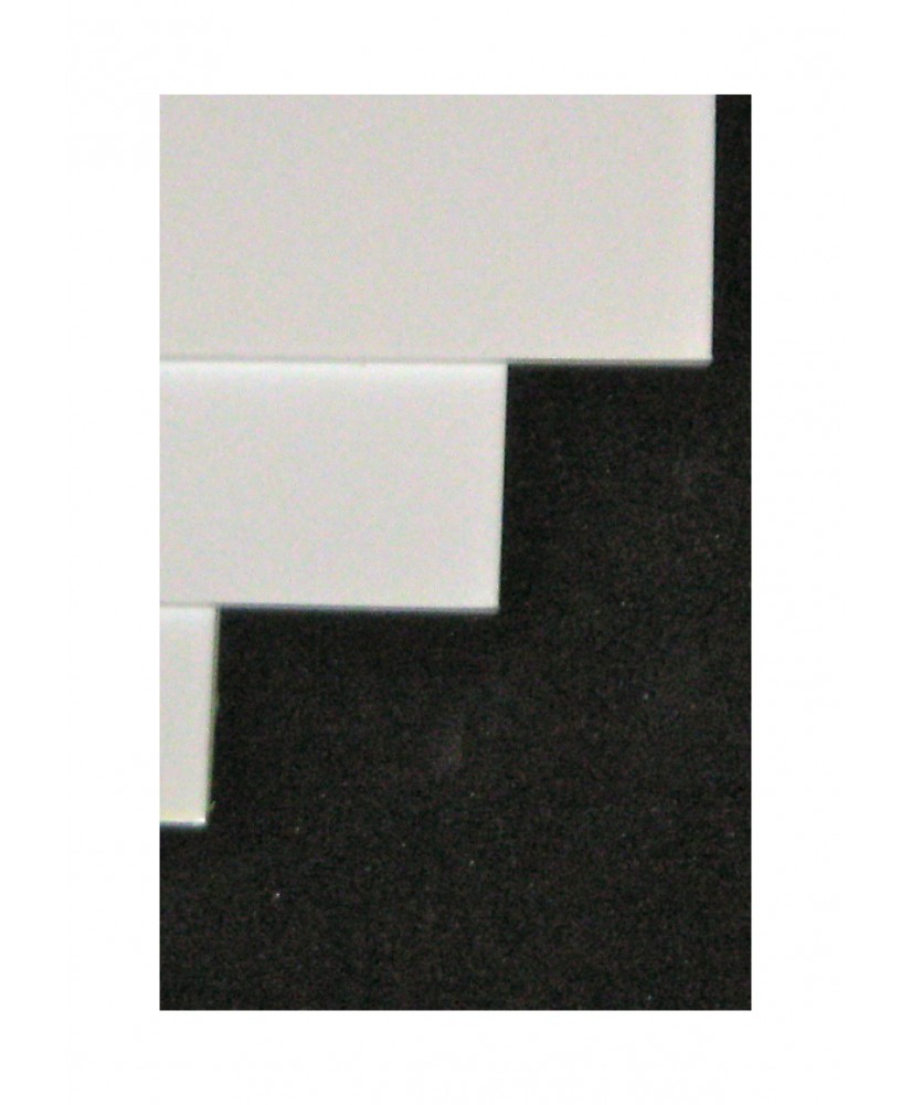 plaque en polystyrène blanc opaque - 2,00 x 700 x 1000mm ( 101 012 )