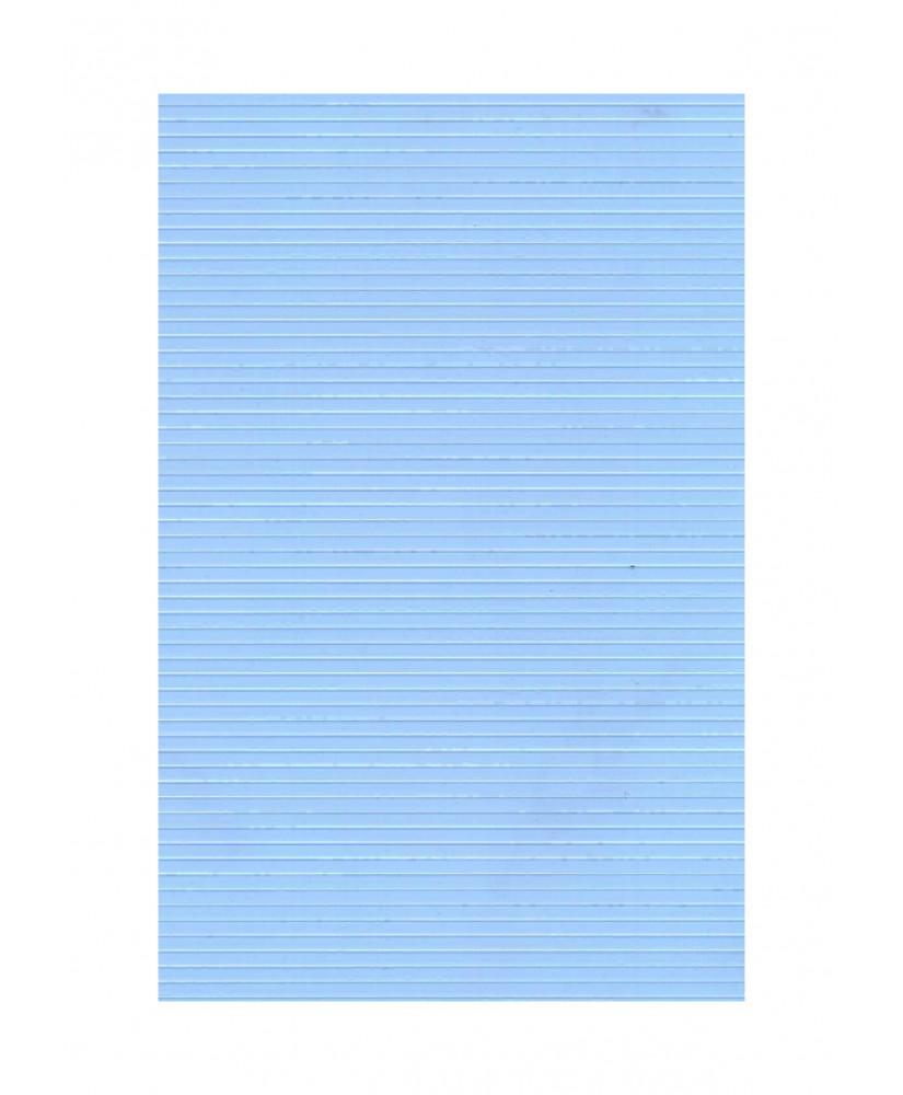 feuille de polyester - impression blanche - lignes avec espacement de 2,00mm - 0,50mm - 220/310mm  ( 103 004 )