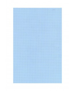 feuille de polyester - impression blanche - carrés de 1,00mm de côté - 0,50mm - 220/310mm ( 103 010 )