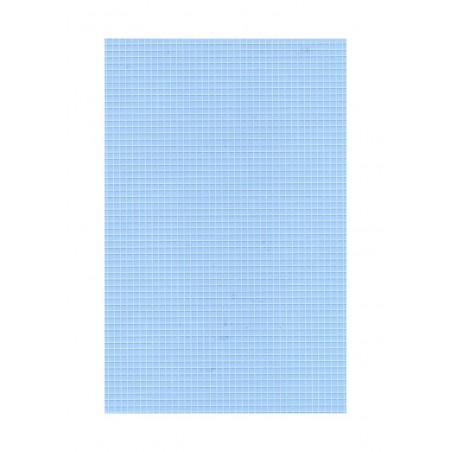 feuille de polyester - impression blanche - carrés de 2,00mm de côté - 0,50mm - 220/310mm ( 103 012 )