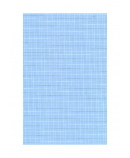 feuille de polyester - impression blanche - rectangles de 1,50mm x 3,00mm - 0,50mm - 220/310mm  ( 103 016 )