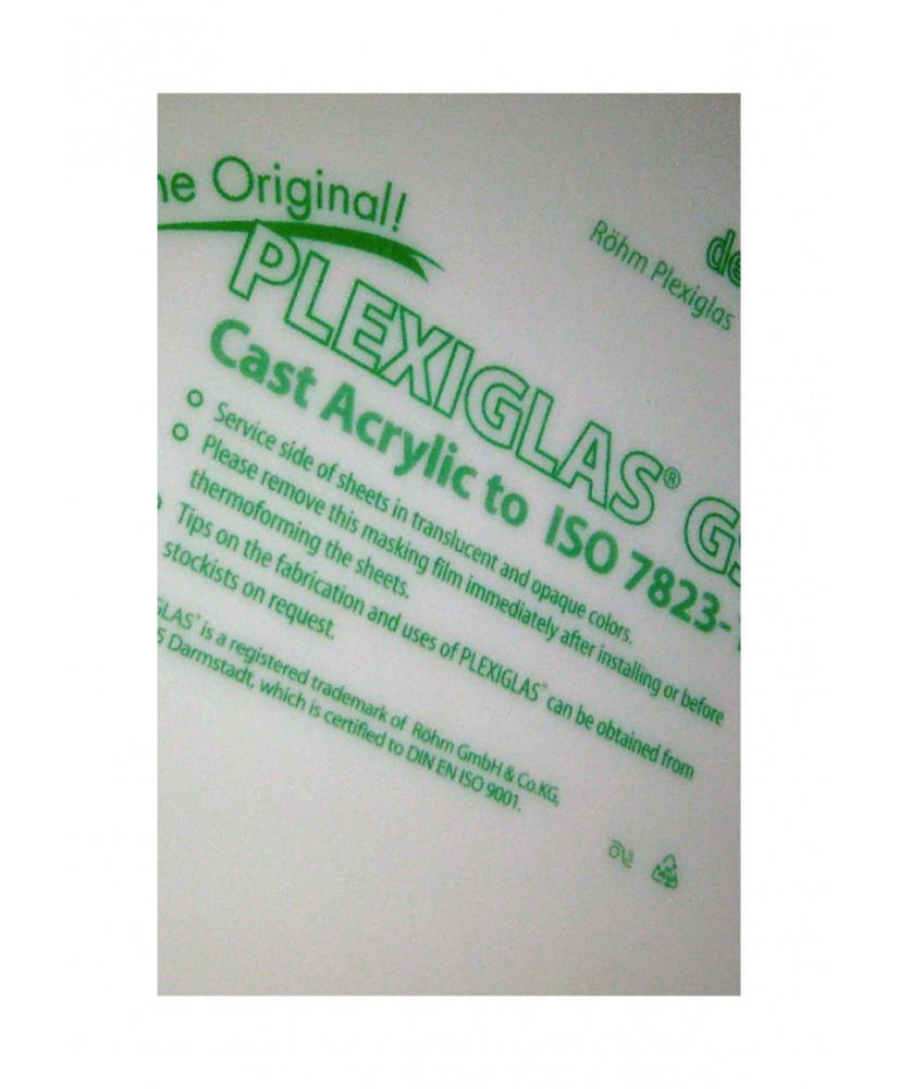 plaque en Plexiglas GS blanc translucide - 3,00 x 500 x 1000mm ( 103 055 )