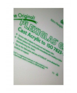 plaque en Plexiglas GS blanc opaque - 5,00 x 500 x 1000mm ( 103 063 )