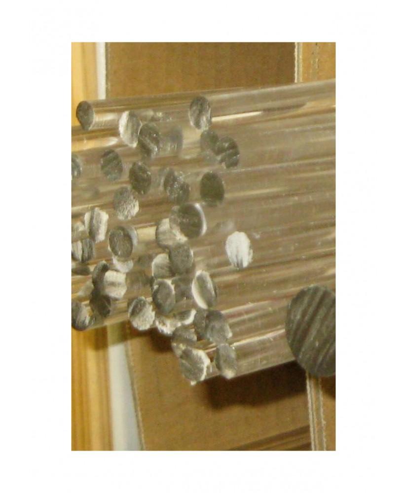 barre en acrylate XT incolore transparent de section ronde - 2,00mm - 1000mm  ( 104 042 )