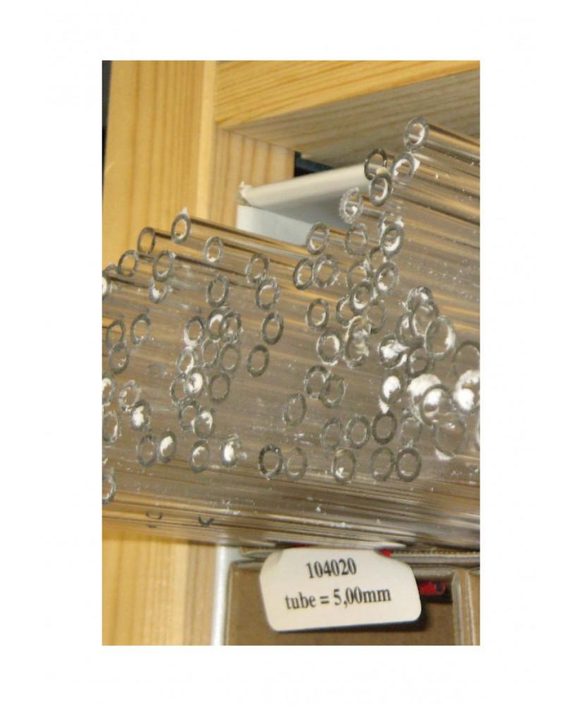 tube en acrylate incolore transparent de section ronde - 20,00/16,00mm - 1000mm  ( 104 034 )
