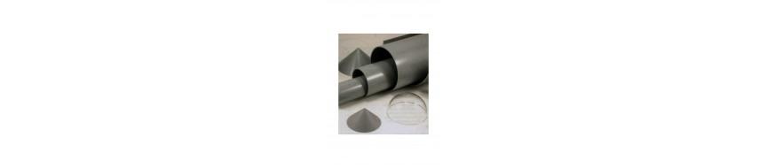 Tubes gris et accessoires pour maquettes industrielles EMA